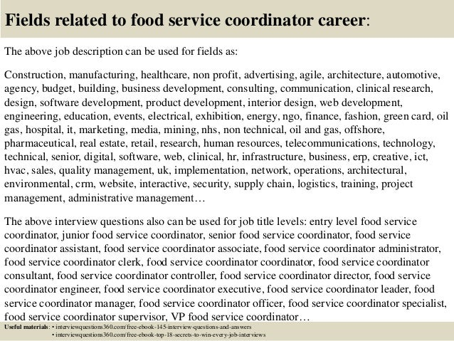Top 10 Food Service Coordinator Interview Questions And Answers