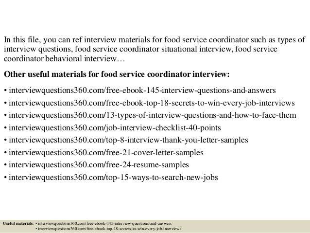 food server cover letter
