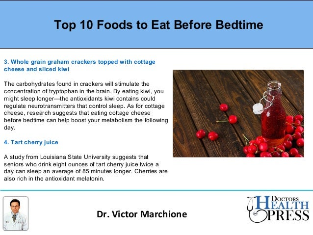 What Can You Eat Before Bed And Not Gain Weight