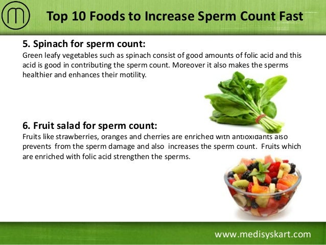 Foods to increase sperm motility