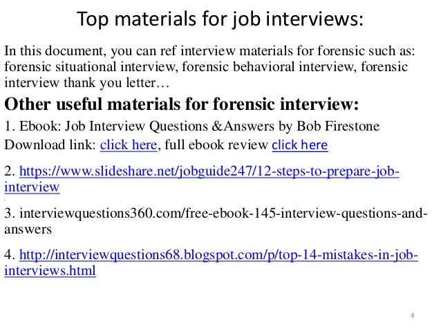High Quality ... Tips To Prepare For Forensic Interview; 4.