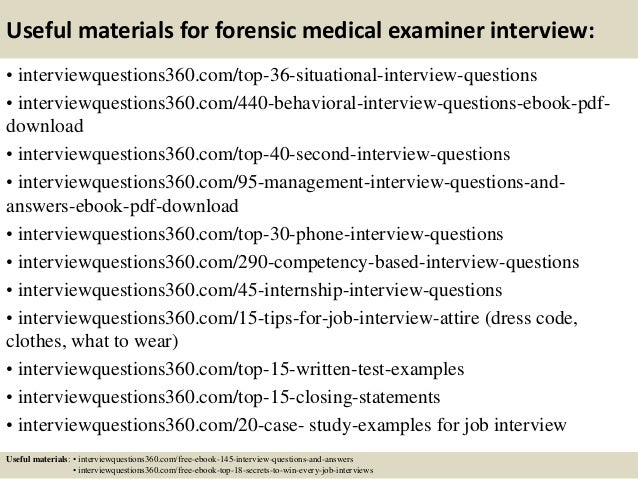 Medical Examiner Job Description | Top 10 Forensic Medical Examiner Interview Questions And Answers