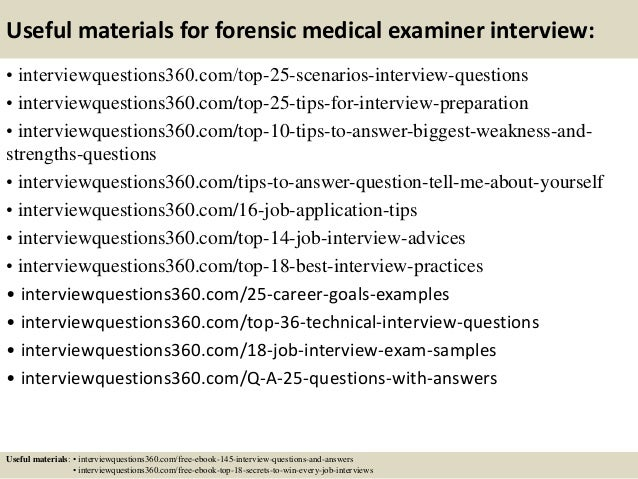 ... 14. Useful Materials For Forensic Medical Examiner ...