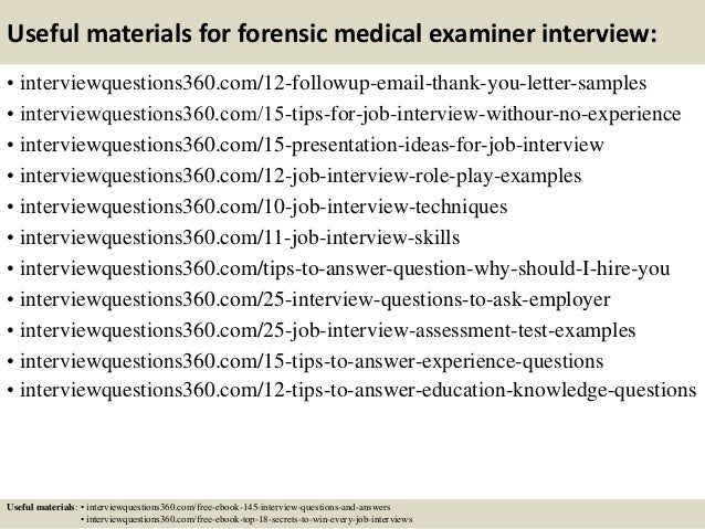 Superior ... 15. Useful Materials For Forensic Medical Examiner ...