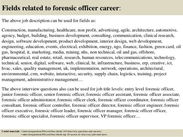 Top 10 Forensic Officer Interview Questions And Answers