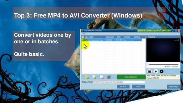 Top 10 free avi to mp4 converter