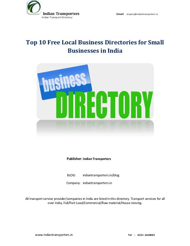 Top 10 Free Local Business Directories for Small Businesses In India