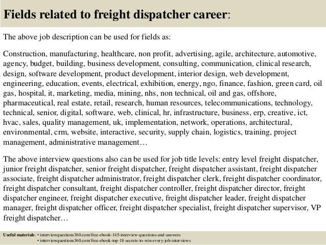 Transport Dispatcher Job Description   Top 10 Freight Dispatcher Interview Questions And Answers