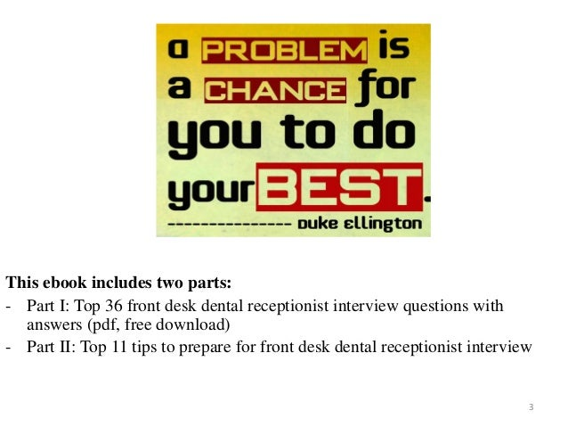 Dental Receptionist Interview Questions With Answers On Mar 2017 3