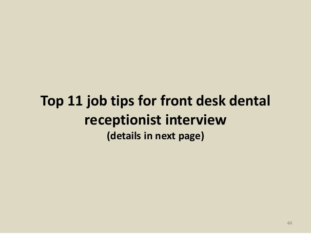Top 10 Front Desk Medical Receptionist Interview Questions And