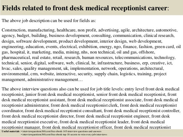18 Fields Related To Front Desk Medical