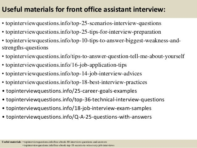 13 useful materials for front office assistant interview - Office Assistant Interview Questions And Answers