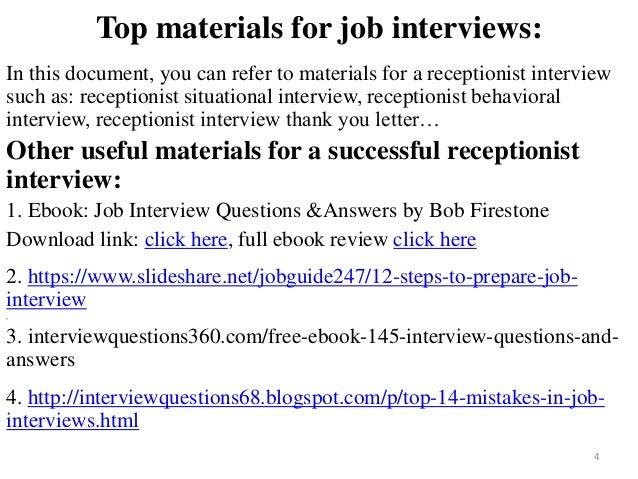 ... Receptionist Interview; 4.