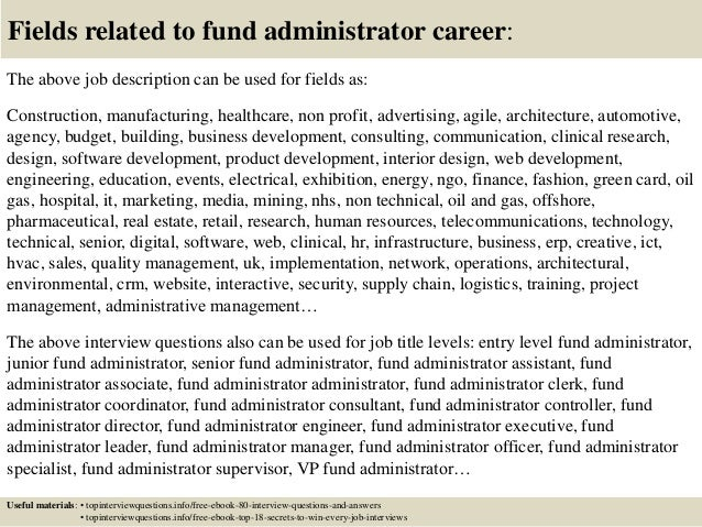Hedge Fund Administrator Cover Letter Hedge Fund Administrator
