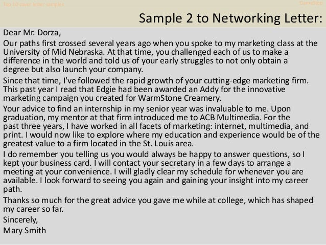 Networking Letters Request Job Search Advice And Assistance 13