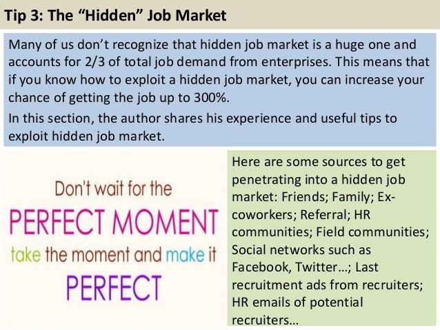 Tip 3: The U201cHiddenu201d Job Market ...