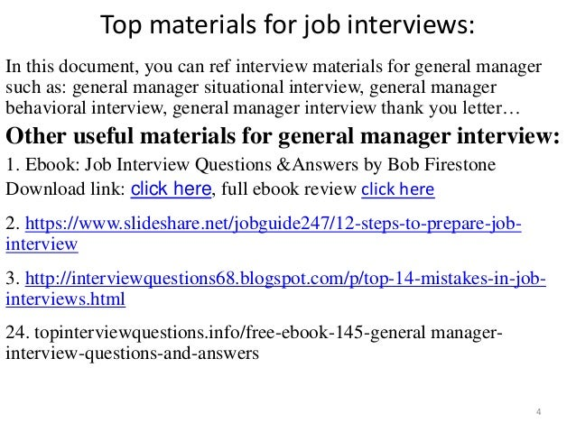 Top 36 general manager interview questions and answers pdf general manager interview 4 fandeluxe PDF