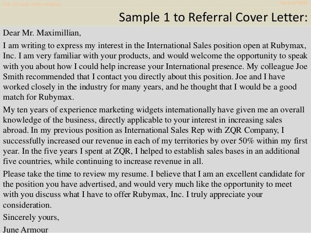 Top 10 general mills cover letter samples