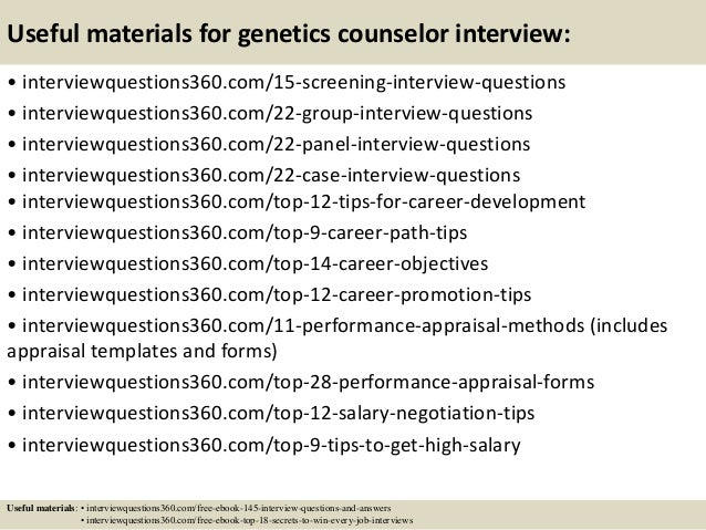 Top 10 genetics counselor interview questions and answers