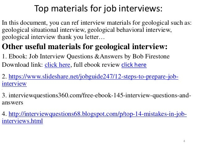 Top 36 geological interview questions with answers pdf top materials fandeluxe Images