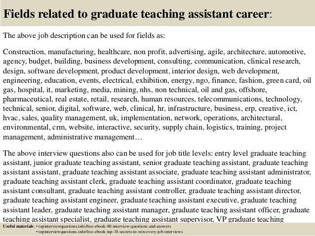 Top 10 graduate teaching assistant interview questions and answers