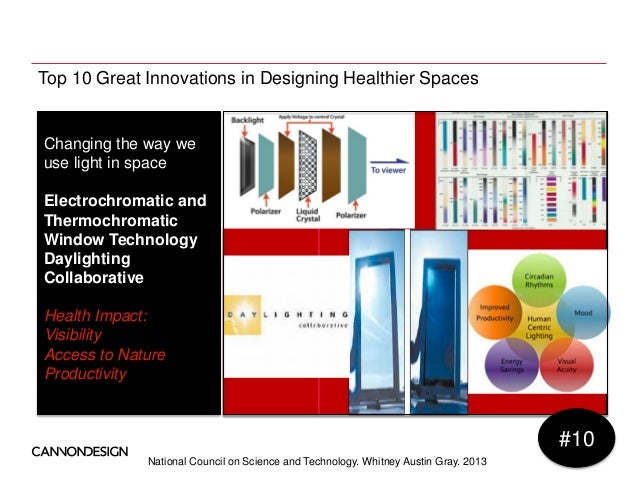 National Council on Science and Technology. Whitney Austin Gray. 2013 Top 10 Great Innovations in Designing Healthier Spac...