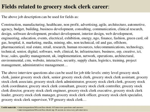 Top 10 Grocery Stock Clerk Interview Questions And Answers