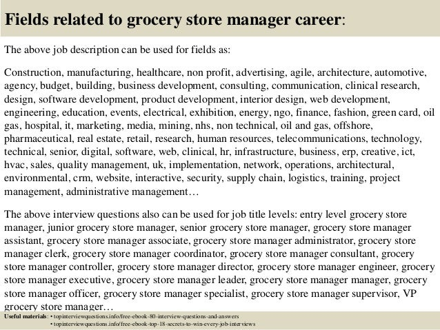 Top  Grocery Store Manager Interview Questions And Answers