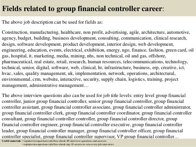 Top  Group Financial Controller Interview Questions And Answers