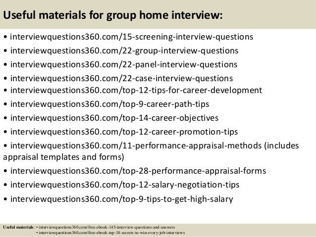 top 10 group home interview questions and answers