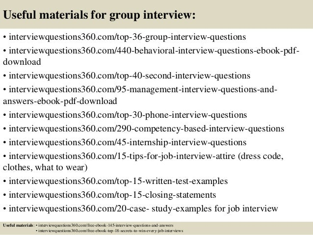 28 useful materials for group interview