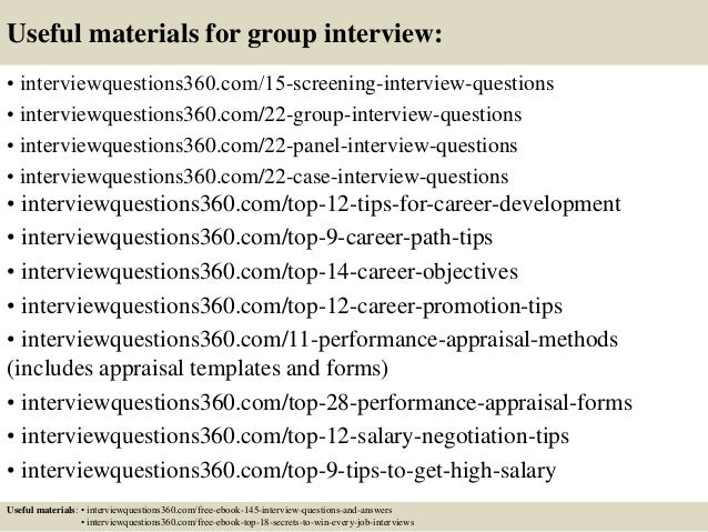 31 useful materials for group interview