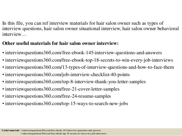 sample resume for hair salon owner – Sample Resume for Small Business Owner
