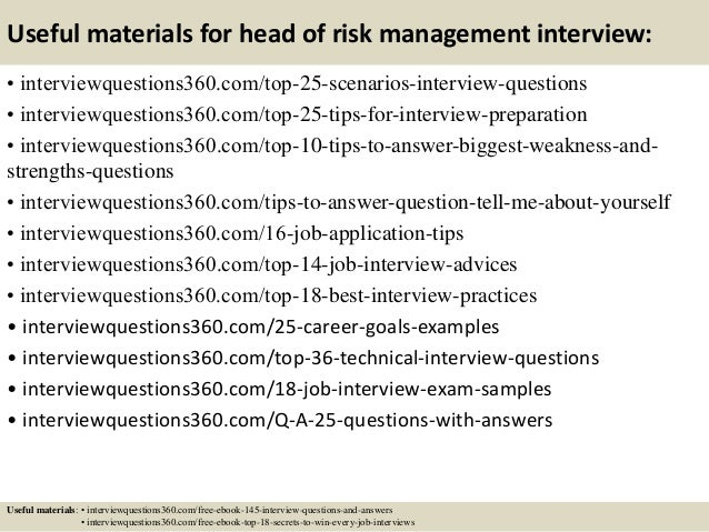 risk management interview questions