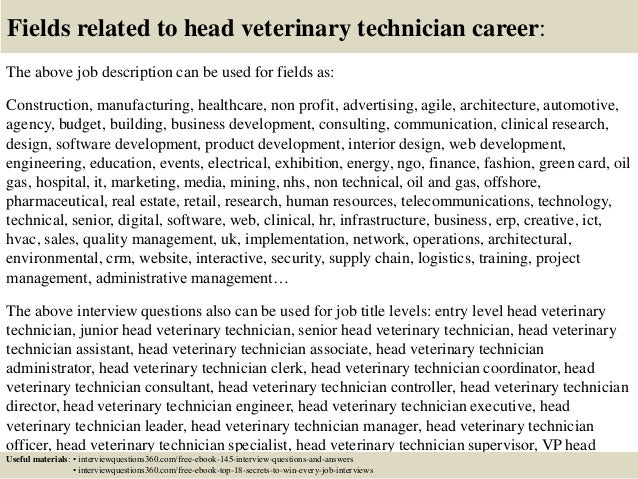 Doc#638479: Technician Duties – Quality Technician Jobvet Tech Job