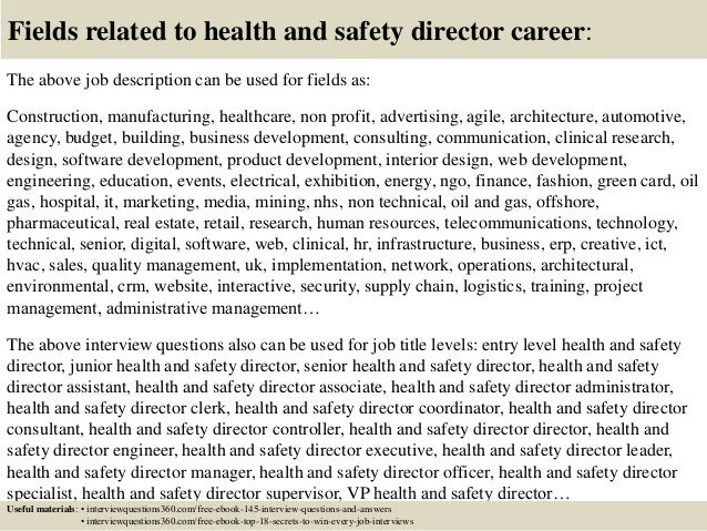Top 10 Health And Safety Director Interview Questions And Answers