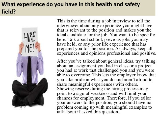health and safety interview questions and answers pdf