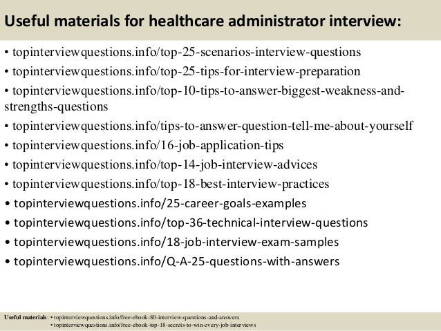 Top 10 healthcare administrator interview questions and answers – Healthcare Administrator Job Description