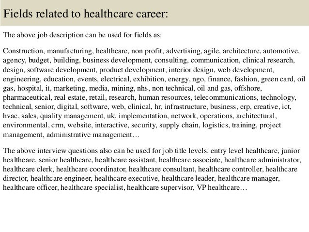 16 fields related to healthcare - Nhs Interview Questions Healthcare Interview Questions And Answers