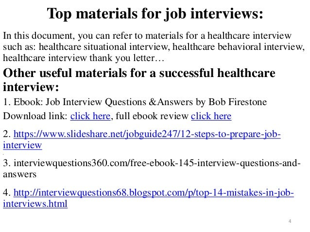 Beautiful ... Tips To Prepare For Healthcare Interview; 4. Top Materials For Job  Interviews: In ...