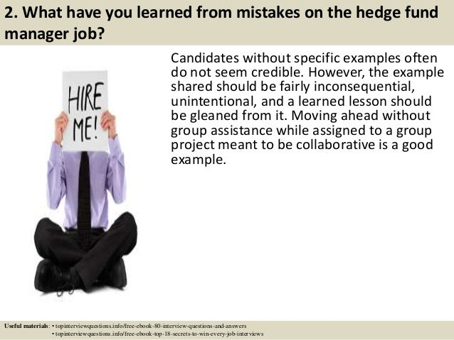 Top 10 hedge fund manager interview questions and answers