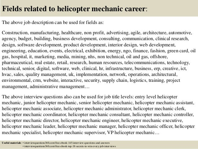 18 Fields Related To Helicopter Mechanic