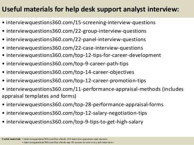 it help desk interview questions