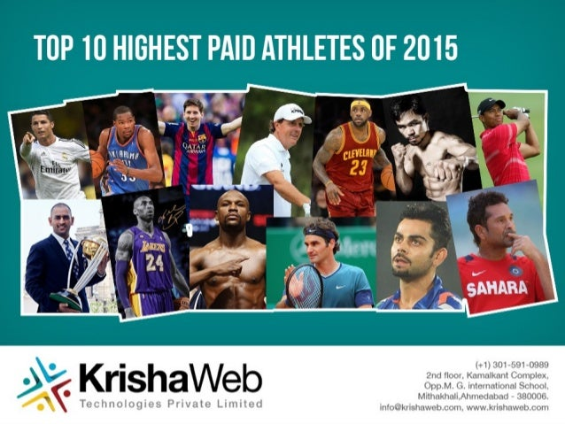 Cricket is not the most paying sport in the World • There is only one cricketer in top 100 highest paid athletes in the wo...