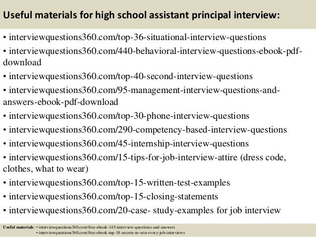 Elegant ... 13. Useful Materials For High School Assistant Principal Interview: ... Ideas Assistant Principal Interview Questions