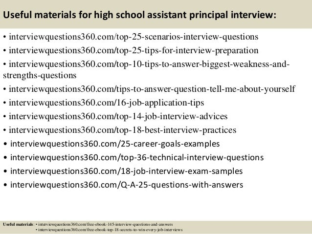 Marvelous ... 14. Useful Materials For High School Assistant Principal Interview: ... Pertaining To Assistant Principal Interview Questions