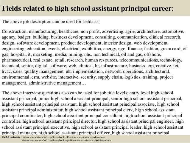 Attractive Fieldstation.co  Assistant Principal Interview Questions