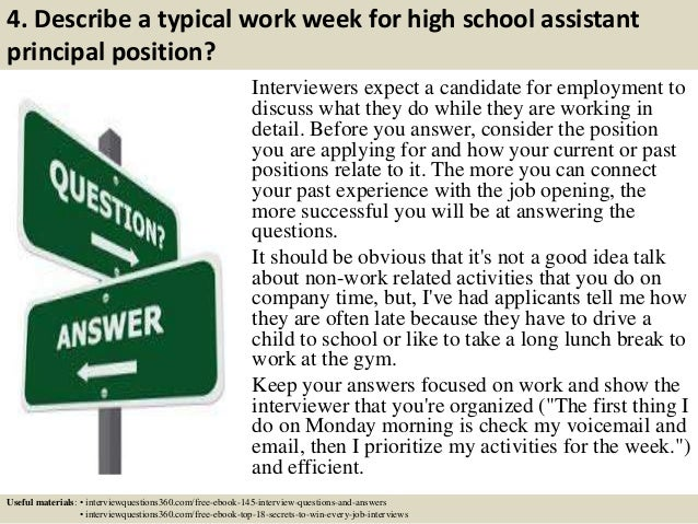 Great ... 6. 4. Intended Assistant Principal Interview Questions