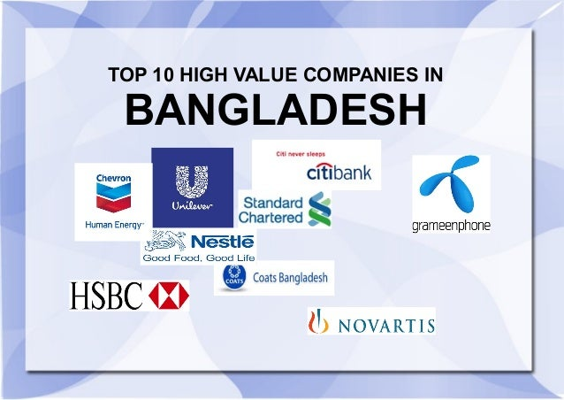 Top 10 High Valued Companies In Bangladesh