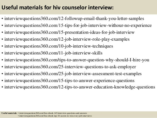 ... 15. Useful Materials For Hiv Counselor ...